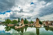 Ponts couverts in Strasbourg Alsace France poster