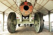The Jaivana Cannon - the world's biggest wheeled cannon ever made, located at the Jaigarh Fort, Jaipur, Rajasthan, India