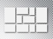 Collage Templates Frames Parts, Picture Or Illustration. Board And Branding Presentation. Poster Fra poster