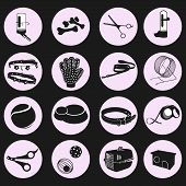 Cute, Funny, Beautiful Pet Shop Animal Icons Icons. Pet Shop, Pets. Big Set, Forage, Collars, Leashe poster