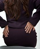Asian Forties Businesswoman Having Back Pain