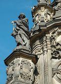 Detail Of Holy Trinity Column In Olomouc,unesco Heritage, Czech Republic