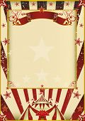 Fantastic circus. A new background (vintage, textured) on circus theme. Enjoy !