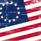 image of civil war flags  - Old US square grunge flag - JPG