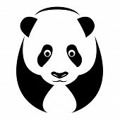 picture of panda  - Vector image of an panda on white background - JPG