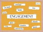 Engagement Corkboard Word Concept