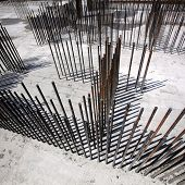 foto of reinforcing  - Steel bars for reinforcing concrete - JPG