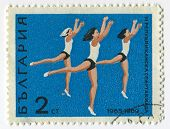 BULGARIA - CIRCA 1969: Postage stamps printed in Bulgaria dedicated to III Republic Olympic Spartakiad (1969), circa 1969.