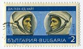 BULGARIA - CIRCA 1967: Postage stamps printed in Bulgaria dedicated to John Glenn (1921) and Edward
