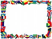 Flag frame