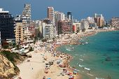 Sandy beach in Calpe, Spain
