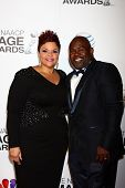 LOS ANGELES - FEB 1:  Tamela Mann, David Mann arrives at the 44th NAACP Image Awards at the Shrine A