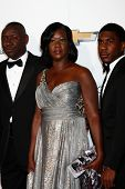 LOS ANGELES - FEB 1:  Sybrina Fulton, Trayvon Martin's mother arrives at the 44th NAACP Image Awards