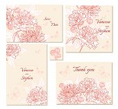 Set of floral frames. Perfect for wedding invitation,save the date and thank you messages