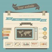 Vintage style website templates