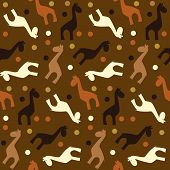 Seamless Vector Pattern Of Simple Naive Giraffe