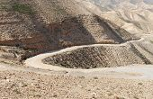 picture of jericho  - Winding road in the rocky desert in Judean desert near Jericho - JPG