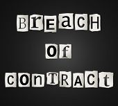 Breach Of Contract.
