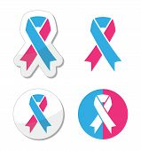 Pink and blue ribbon - pregnancy and infant loss awereness symbol