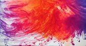 stock photo of ombres  - Ink dispersing in water - JPG