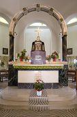 Altar In Church Of Beatitudes