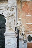 pic of arsenal  - Classical sculptures near the main gate of Venetian Arsenal - JPG
