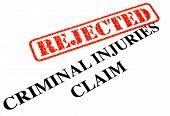 Unsuccessful Criminal Injuries Claim