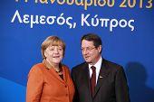 Angela Merkel und Nicos Anastasiades, Präsidentschaftskandidaten