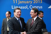 Jose Manuel Barroso and Nicos Anastasiades
