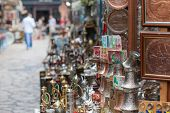SARAJEVO, BOSNIA - AUGUST 13: Shops selling traditional souvenirs on August 13, 2012 in Sarajevo, Bo