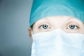 stock photo of avian flu  - Nurse looking at you  - JPG