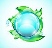 Blue glass sphere