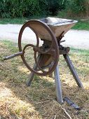 picture of wine-press  - view of on ancient wine press briefing in a garden - JPG