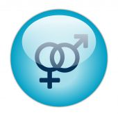 Glassy Blue Male Female Icon