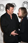 LOS ANGELES - SEP 30:  Nathan Fillion, Susan Sullivan at the An Evening with Castle at Paley Center for Media on September 30, 2013 in Beverly Hills, CA