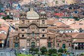 aerial view of the Plaza de Armas of Cuzco city in the peruvian Andes Peru South America
