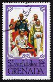 Postage Stamp Grenada 1977 Coronation Of Elizabeth Ii