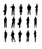 Set of siluetes people.
