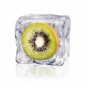 Kiwi In An Ice Cube