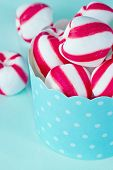 Closeup Of Peppermint Candy