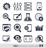 SEO services icons set 04 MONO