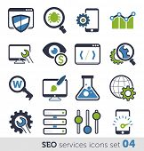 SEO services icons set 04