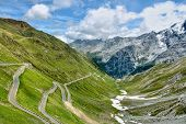 Serpentine Road In Alps