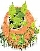 A Digital Art Of Plant