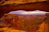 Mesa Arch in Canyonlands National Park Utah USA sunrise