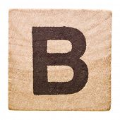 Block with Letter B isolated on white background