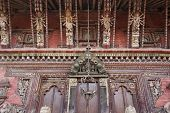 image of tantric  - Wood carving details of Changu Narayan Temple an UNESCO site in Bhaktapur - JPG