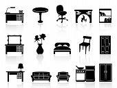 Black Simple Furniture Icon