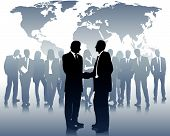 stock photo of business-partner  - business partners and a international business team - JPG