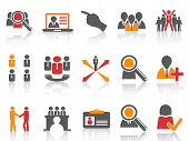 Job And Human Resource Icons Set